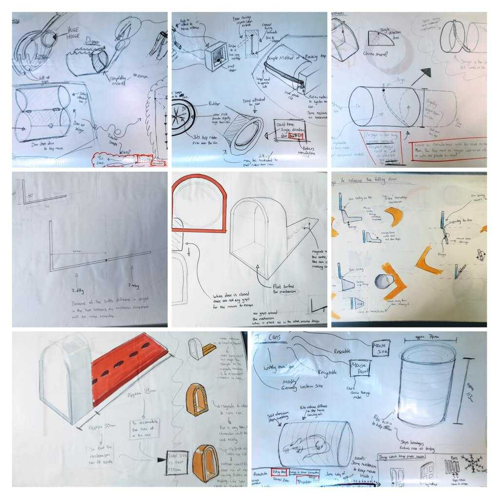 Various development and experimentation sketches - not presentation sketches